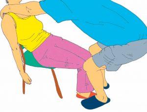 Es importante la ubicación de los pies del cuidador a la hora de una correcta realización de la técnica
