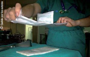 Apertura de paquete estéril